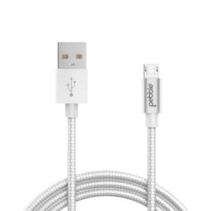 Pebble Nylon Braided Micro USB Cable