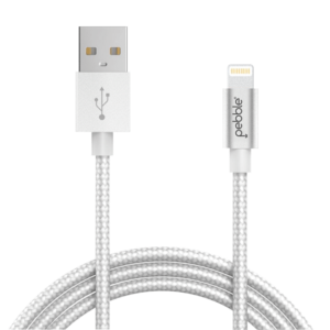 Pebble Nylon Braided Lightning/Apple Cable