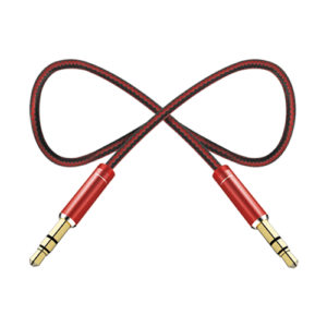Pebble Nylon Braided Aux Cable