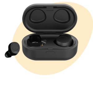 Pebble Twins Deep Bass True Wireless Earbuds, Bluetooth 5.0 with Magnetic Charging Case, HD Stereo Sound, Sweat and Waterproof, 20+ Hours of Play time and Noise Cancellation