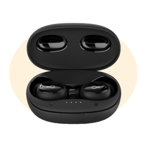 Pebble Snugs True Wireless Bluetooth earpods with Full Touch Control, high Fidelity Sound & 16 Hours of Playtime with The case (Black)