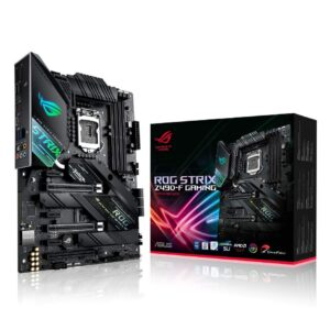 ASUS ROG Strix Z490-F Gaming LGA 1200 DDR4 (4600 O.C.) ATX Motherboard with Dedicated Fan Bracket 2X M.2 Slot 2.5Gb Ethernet and AI Cooling Overclocking