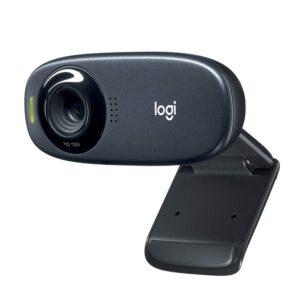 Logitech C310 HD Webcam, HD 720p/30fps, Widescreen HD Video Calling, HD Light Correction, Noise-Reducing Mic, for Skype, FaceTime, Hangouts, WebEx, PC/Mac/Laptop/MacBook/Tablet – Black