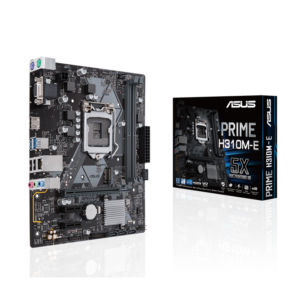 PRIME H310M-E  Intel LGA-1151 mATX motherboard with LED lighting, DDR4 2666MHz, M.2 support, HDMI, SATA 6Gbps and USB 3.1 Gen 1