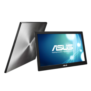 MB168B  ASUS MB168B Portable USB Monitor – 39.62cm(15.6), HD, USB-powered, Ultra-slim, Smart Case