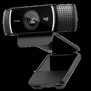 Logitech C922 Pro Stream Webcam, HD 1080p/30fps or HD 720p/60fps Hyperfast Streaming, Stereo Audio, HD Light Correction, Autofocus, for YouTube, Twitch, XSplit, PC/Mac/Laptop/MacBook/Tablet – Black