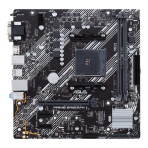 AMD B450 (Ryzen AM4) micro ATX motherboard with M.2 support, HDMI/DVI-D/D-Sub, SATA 6 Gbps, 1 Gb Ethernet, USB 3.2 Gen 1 Type-A, BIOS FlashBack™