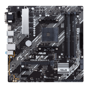 AMD B450 (Ryzen AM4) micro ATX motherboard with M.2 support, HDMI/DVI-D/D-Sub, SATA 6 Gbps, 1 Gb Ethernet, USB 3.2 Gen 2 Type-A
