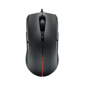 ROG Strix Evolve Optical gaming mouse featuring changeable top covers to enable four different ergonomic styles and Aura RGB lighting with Aura Sync support