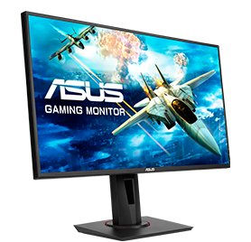 ASUS 24.5-inch Full HD (1920×1080), Nvidia G-SYNC Compatible Esports Gaming Monitor, 0.5ms, Up to 165 Hz, DP, HDMI, DVI-D, Super Narrow Bezel, FreeSync, Low Blue Light, Flicker Free – VG258QR (Black)